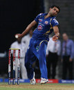 Rishi Dhawan in his delivery stride, Mumbai Indians v Pune Warriors, IPL 2013, Mumbai, April 13, 2013