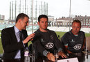 Surrey chairman Richard Thompson, Graeme Smith and Chris Adams, The Oval, April 12, 2013
