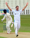 Tim Groenewald appeals for the wicket of Varun Chopra, Warwickshire v Derbyshire, County Championship, Division One, Edgbaston, 4th day, April 12, 2013