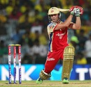 AB de Villiers drives down the ground