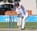 Xander Pitchers is bowled through the gate, Namibia v Netherlands, ICC Intercontinental Cup 2011-13, 1st day, Windhoek, April 11, 2013