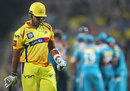 S Anirudha trudges back after being dismissed, Chennai Super Kings v Pune Warriors, IPL, Pune, April 15, 2013