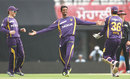 Sachithra Senanayake poses after picking up Adam Gilchrist, Kings XI Punjab v Kolkata Knight Riders, IPL, Mohali, April 16, 2013