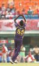 L Balaji took a catch off his own bowling to dismiss Manan Vohra, Kings Xi Punjab v Kolkata Knight Riders, IPL 2013, Mohali, April 16, 2013