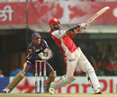 Manpreet Gony hits a six over the onside, Kings XI Punjab v Kolkata Knight Riders, IPL 2013, Mohali, April 16, 2013