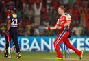 Andrew McDonald celebrates Virender Sehwag's wicket, Royal Challengers Bangalore v Delhi Daredevils, IPL 2013, Bangalore, April 16, 2013