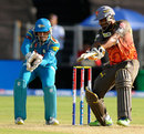 Biplab Samantray plays a cut shot, Pune Warriors v Sunrisers Hyderabad, IPL, Pune, April 17, 2013