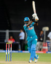 Angelo Mathews hits through the covers, Pune Warriors v Sunrisers Hyderabad, IPL, Pune, April 17, 2013