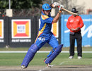 Craig Williams plays to the off side, Namibia v Netherlands, ICC World Cricket League Championship, Windhoek, April 16, 2013