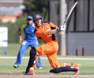 Wesley Barresi scored 60 for Netherlands to help them to a 31-run victory over Namibia