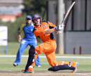 Wesley Barresi hits to the leg side, Namibia v Netherlands, ICC World Cricket League Championship, Windhoek, April 16, 2013