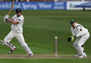 Calum Haggett made 40 from No. 9, Leicestershire v Kent, Leicester, County Championship, Division Two, 1st day, April, 17, 2013