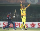 Chris Morris had Mahela Jayawardene lbw for 6, Delhi Daredevils v Chennai Super Kings, IPL, Delhi, April 18, 2013