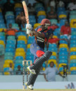 Anthony Alleyne pulls one to the boundary, Combined Campuses and Colleges v Trinidad & Tobago, Regional Super 50 2012-13, Bridgetown, April 19, 2013