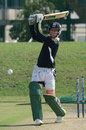 Jean Symes hits out in the South Africa Emerging Squad nets, Pretoria, April 18, 2013