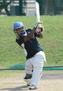 Mangaliso Mosehle drives at South Africa Emerging Squad's training session