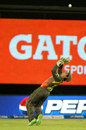 Quinton de Kock is poised to take a catch, Sunrisers Hyderabad v Kings XI Punjab, IPL, Hyderabad, April 19, 2013