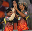Karan Sharma and Ishant Sharma jolted the Kings XI Punjab top order, Sunrisers Hyderabad v Kings XI Punjab, IPL, Hyderabad, April 19, 2013