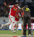 Manpreet Gony celebrates after dismissing Cameron White, Sunrisers Hyderabad v Kings XI Punjab, IPL 2013, Hyderabad, April 19, 2013