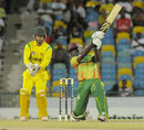 Andre Fletcher drives during his innings of 68, Jamaica v Windward Islands, semi-final, Regional Super50, Bridgetown, April 19, 2013