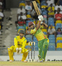 Keddy Lesporis plays a shot through the offside during his innings of 61, Jamaica v Windward Islands, semi-final, Regional Super50, Bridgetown, April 19, 2013