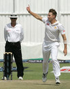Kyle Jarvis picked up three wickets in the second innings, Zimbabwe v Bangladesh, 1st Test, 4th day, Harare, April 20, 2013