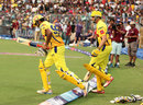 R Ashwin, surprisingly, was sent out to open with Michael Hussey, Kolkata Knight Riders v Chennai Super Kings, IPL 2013, Kolkata, April 20, 2013
