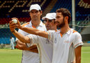 Wasim Akram passes on advice to Ahmed Jamal, Karachi, April 20, 2013