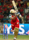 Tillakaratne Dilshan whips one away, Royal Challengers Bangalore v Rajasthan Royals, IPL 2013, Bangalore, April 20, 2013