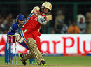 Saurabh Tiwary goes over the top, Royal Challengers Bangalore v Rajasthan Royals, IPL 2013, Bangalore, April 20, 2013