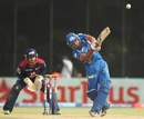 Rohit Sharma lofts down the ground