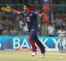 Umesh Yadav finished with 2 for 31, Delhi Daredevils v Mumbai Indians, IPL, Delhi, April 21, 2013