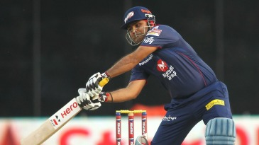 Virender Sehwag lashes at the ball