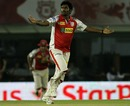 Parvinder Awana dismissed Robin Uthappa