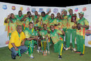 Windward Islands pose with the Regional Super50 trophy