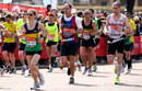 Andrew Strauss competes in the London marathon, London, April 21, 2013