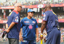 Sachin Tendulkar and Sir Viv Richards before the start of the match, Delhi Daredevils v Mumbai Indians, IPL 2013, Delhi, April 21, 2013