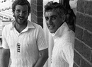 Ian Botham and Mike Brearley enjoy the victory at Headingley, England v Australia, 3rd Test, Headingley, 5th day, July 21, 1981