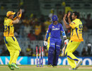 Ajinkya Rahane was bowled by R Ashwin, Chennai Super Kings v Rajasthan Royals, IPL 2013, Chennai, April 22, 2013