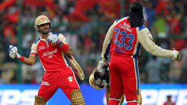 Virat Kohli and Chris Gayle celebrate in signature fashion