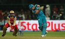 Steven Smith thumps one to the leg side, Royal Challengers Bangalore v Pune Warriors, IPL, Bangalore, April 23, 2013