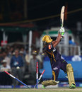 Manoj Tiwary is bowled by Lasith Malinga, Kolkata Knight Riders v Mumbai Indians, IPL 2013, Kolkata, April 24, 2013
