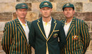 Steve Waugh, Michael Clarke and Mark Taylor pose for the cameras at the 2013 Ashes squad announcement, Sydney, April 24, 2013