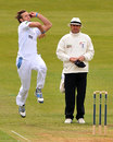 Ross Whiteley in his delivery stride, Derbyshire v Nottinghamshire, County Championship, Division One, Derby, 2nd day, April 25, 2013