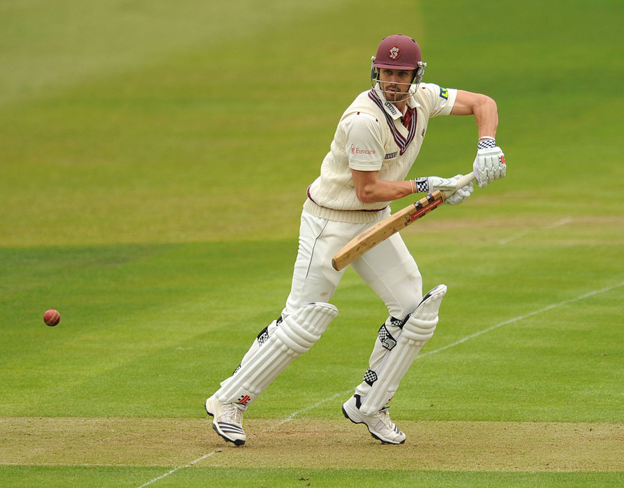 Nick Compton made a half-century before lunch, Somerset v Warwickshire, County Championship, Division One, Taunton, 1st day, April 25, 2013