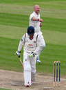 Darren Stevens celebrates removing Luke Procter for 9, Lancashire v Kent, County Championship, Division Two, Old Trafford, 2nd day, April 25, 2013