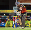 Cameron White edges to the wicketkeeper, Chennai Super Kings v Sunrisers Hyderabad, IPL, Chennai, April 25, 2013