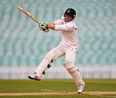 Ed Joyce hops around the crease to chop the ball away, Surrey v Sussex, County Championship, Division One, The Oval, 3rd day, April 26, 2013