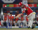 Mandeep Singh hits over the covers, Kolkata Knight Riders v Kings XI Punjab, IPL, Kolkata, April 26, 2013