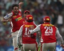 Azhar Mahmood took two wickets in his first over, Kolkata Knight Riders v Kings XI Punjab, IPL, Kolkata, April 26, 2013